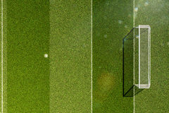 Empty soccer field grass Royalty Free Stock Images