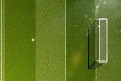 Empty soccer field grass royalty free illustration