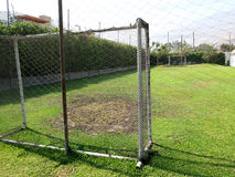 Empty soccer field. In the mountains Royalty Free Stock Photos