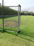Empty soccer field. In the mountains Stock Images