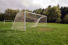 Empty Soccer goal Stock Images