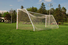 Empty Soccer goal Stock Photos