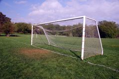 Empty Soccer goal Stock Photography
