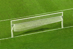 Empty soccer goal Stock Photo