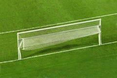 Empty soccer goal. On the soccer field Stock Photo