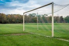Empty Soccer Goal Stock Image