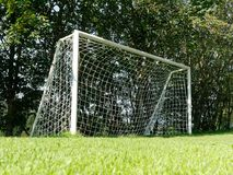 Empty soccer goal outdoor Royalty Free Stock Image