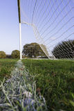 Empty soccer goal Royalty Free Stock Image