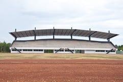 Empty soccer stadium. Empty  soccer stadium and blue sky Stock Photo