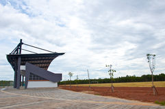 Empty soccer stadium Stock Images