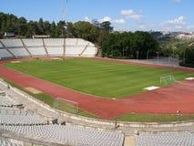 Empty soccer stadium Royalty Free Stock Image