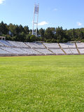 Empty soccer stadium Royalty Free Stock Images
