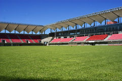 Empty soccer stadium Royalty Free Stock Photo