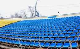 Empty soccer stands Stock Image