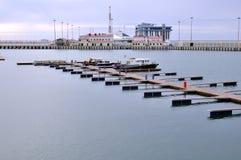 Empty Sochi sea port in winter time. Sochi. Russia Royalty Free Stock Photo