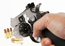 Empty socket of revolver gun Royalty Free Stock Photos