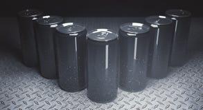 Empty soda cans closeup Royalty Free Stock Image