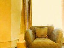Empty sofa watercolour. An empty sofa watercolour digital illustration Stock Photography