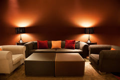 Empty sofas and armchairs Stock Photos