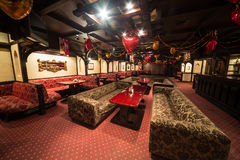 The empty sofas in Karaoke - Club PHARAOH Royalty Free Stock Image