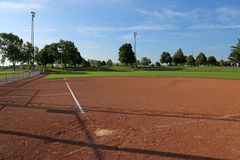 Empty Softball Field Stock Photo