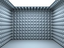 Empty soundproof room. 3d render Stock Images