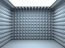 Empty soundproof room. 3d render vector illustration
