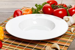 Empty soup bowls Stock Images