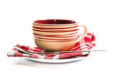 Empty soup-plate Royalty Free Stock Photos