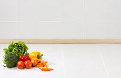 Empty space background in the kitchen royalty free stock photography