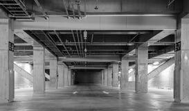 Empty space car park interior Stock Photo