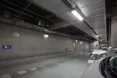Empty space car park interior Stock Images