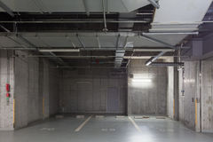 Empty space car park interior Royalty Free Stock Photos