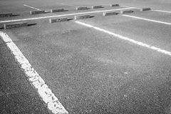 Empty Space in a car parking Lot Stock Images