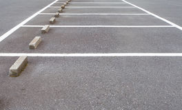 Empty space at car parking lot Stock Images