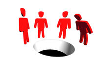 Empty space - hole Stock Images