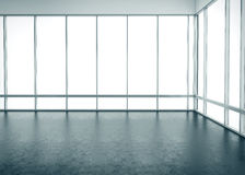 Empty space interior with big windows. 3d Royalty Free Stock Images