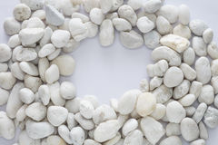 Empty space at middle of small stones. Stock Image