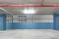 Empty Space in a Parking Stock Image