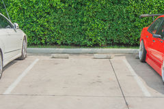 Empty space in a parking lane. Royalty Free Stock Photos