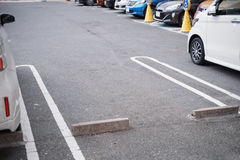 Empty space in parking Royalty Free Stock Photography