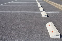 Empty Space in a Parking Lot Royalty Free Stock Photos