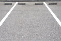 Empty Space in a Parking Lot Stock Photos