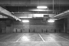 Empty Space in a Parking Lot Stock Image