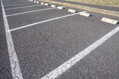 Empty Space in a Parking Lot. Background of Empty Space in a Parking Lot Royalty Free Stock Images