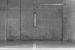 Empty Space in a Parking Lot Stock Photography