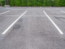 Empty space on parking lot royalty free stock photos