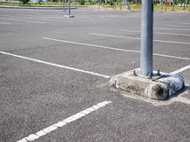 Empty space parking lot outdoor in public park Royalty Free Stock Photos