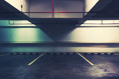 Empty Space in a Parking. Tone Cinematic stock image