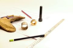 Empty space work objects Royalty Free Stock Photo